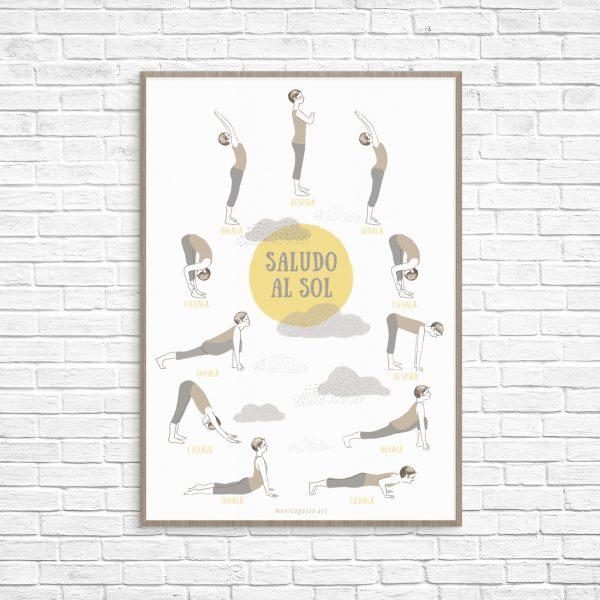 oster con el Saludos al Sol ilustrado.