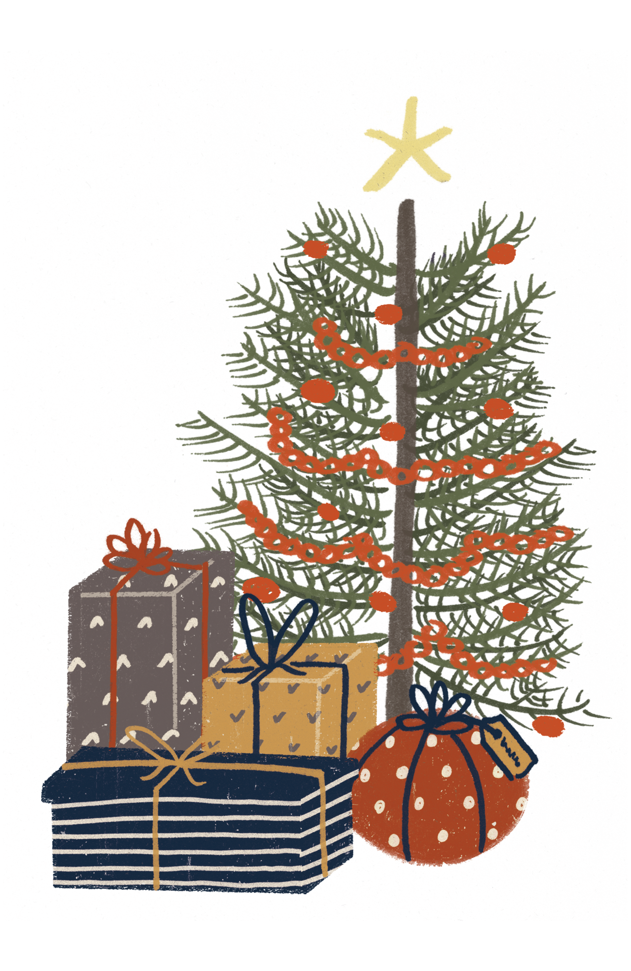 Illustration of a Christmas Tree