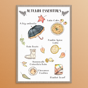 Picture of the illustration Autumn Essentials by Monica Galan