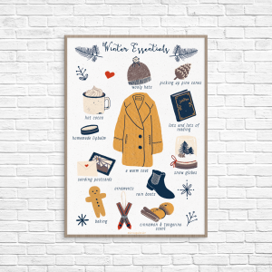 Picture of the illustration Winter Essentials by Monica Galan