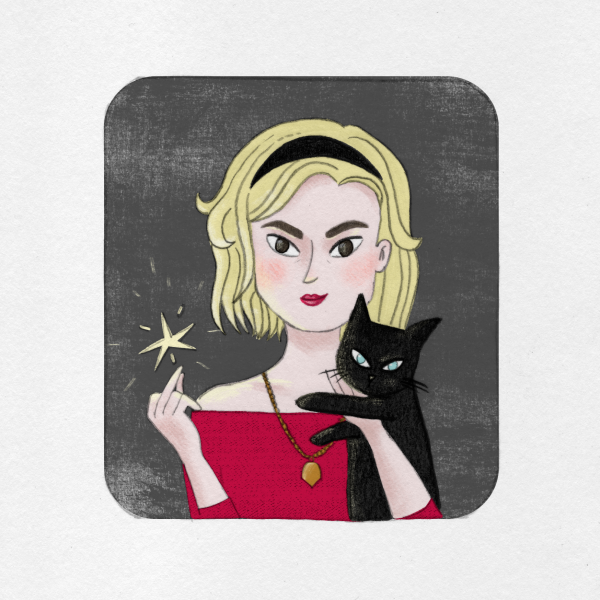 Illustration of Sabrina Spellman by Monica Galan
