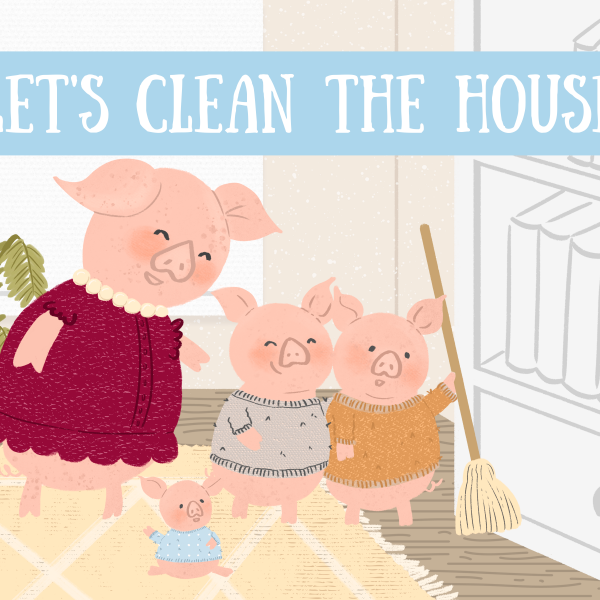 Cover illustration for Let's Clean the House by Mónica Galan