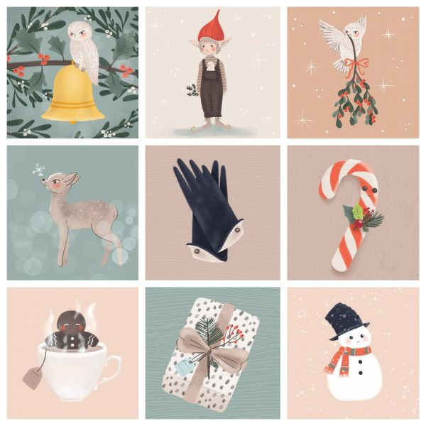 Christmas ilustrations by monica galan