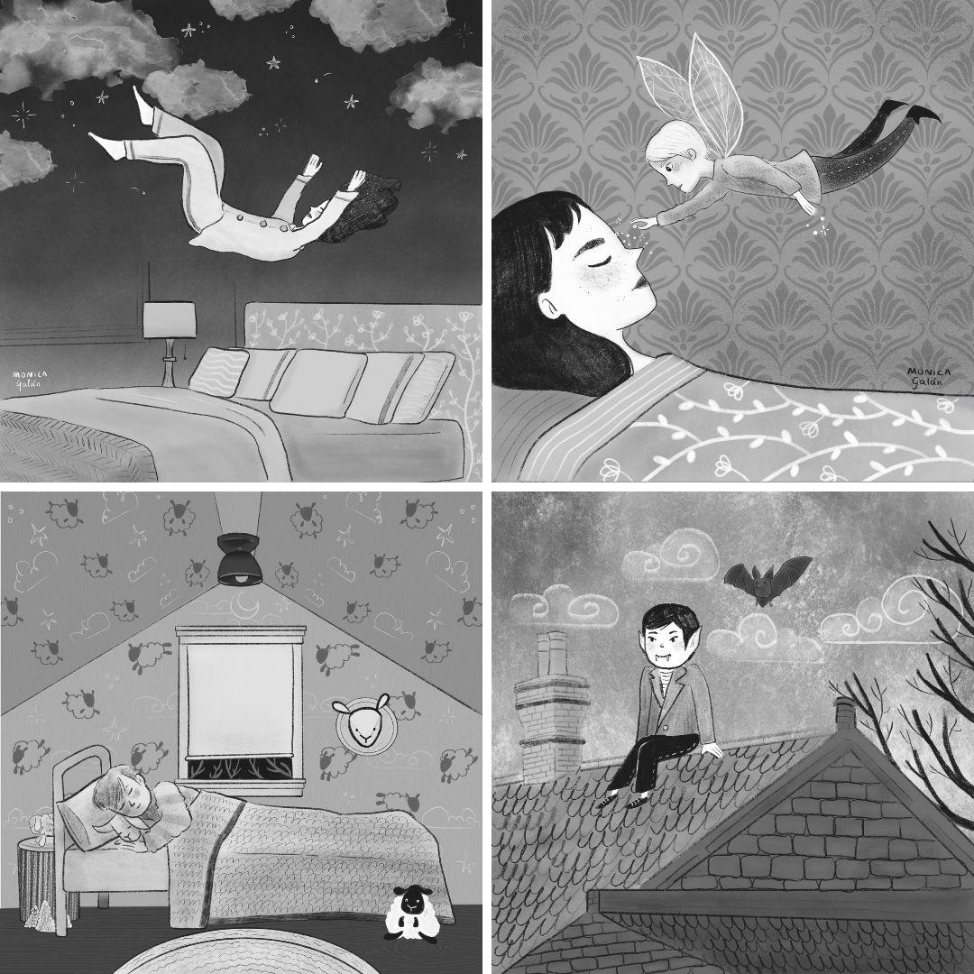 Folk Tale Week, ilustrations by Monica Galan