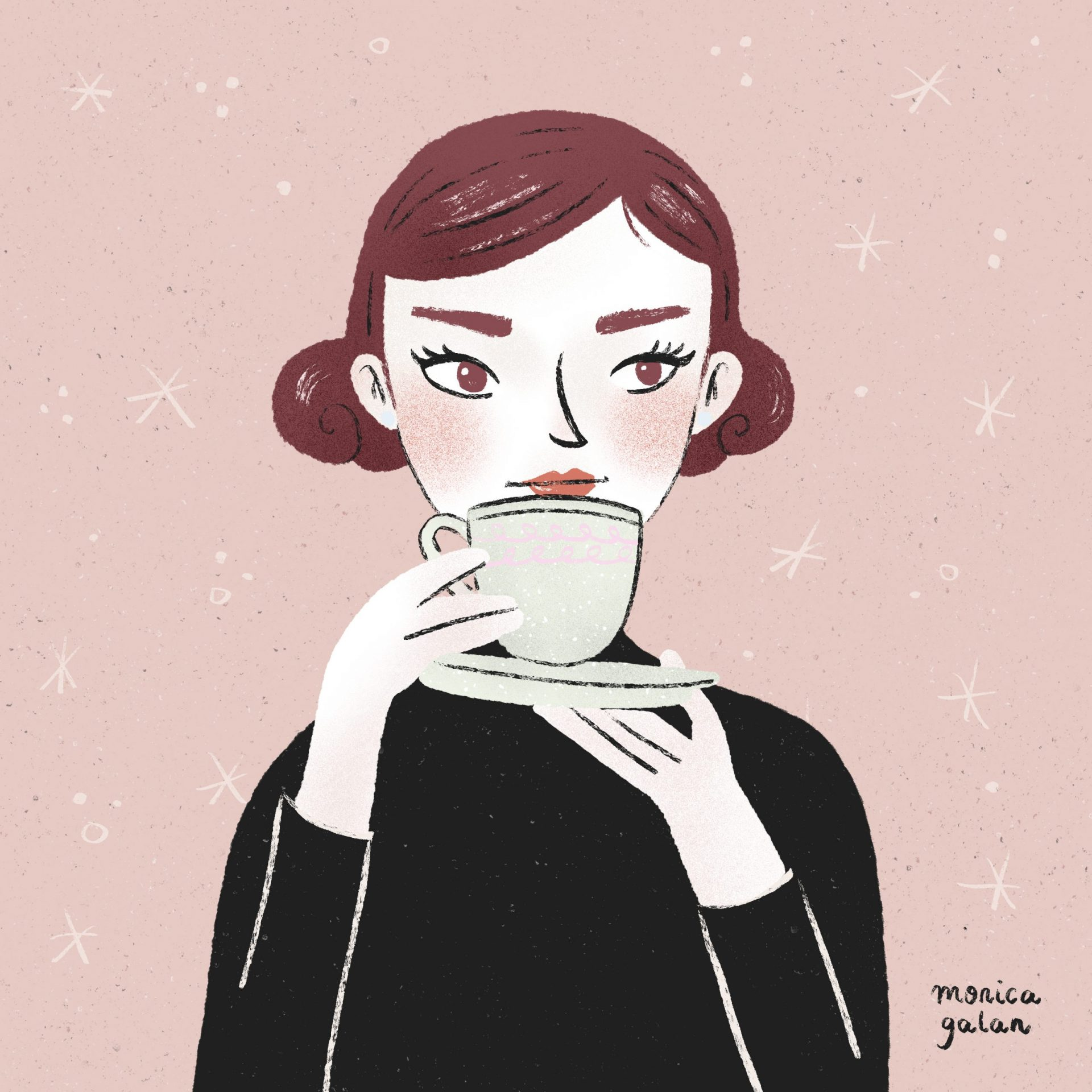Tea Time Illustration by Monica Galan